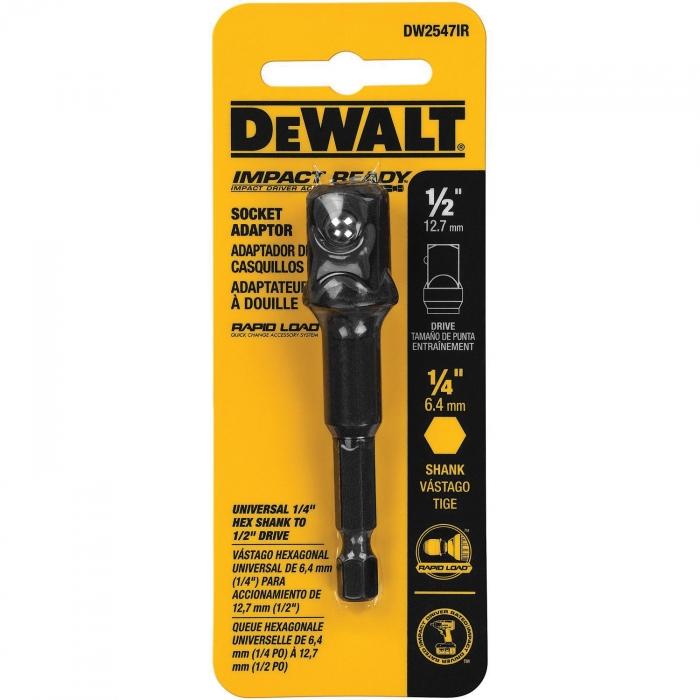 1/4 inch x 1/2 inch Dewalt Socket Adaptor