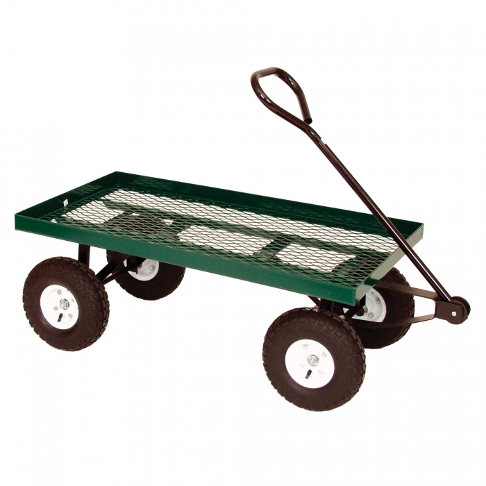 Metal Frame Wagon With Plastic Deck