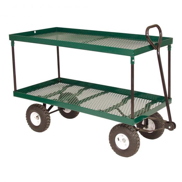 Beau Double Deck Metal Utility / Garden Wagon