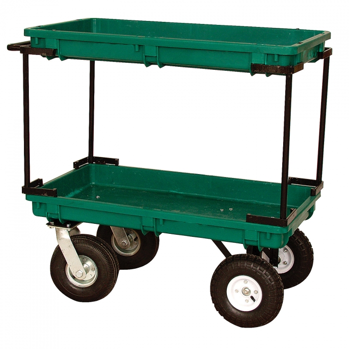 Plastic Double Deck Garden / Utility Cart | QC Supply