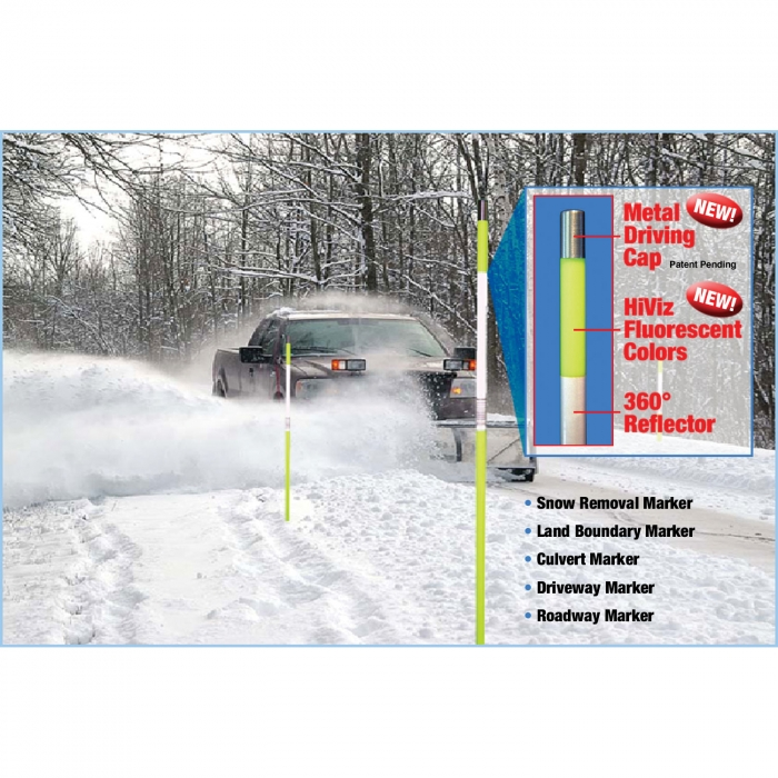 Snow Pole™ Reflective Marker