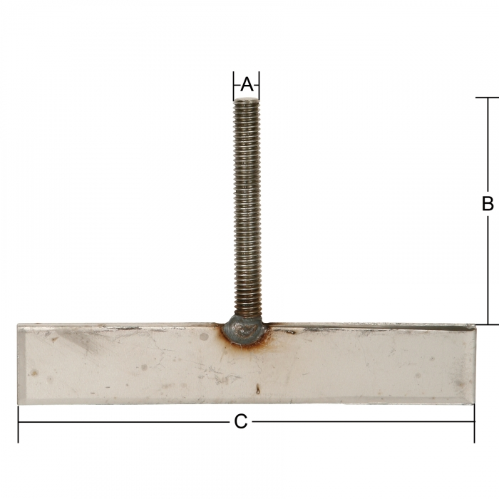 Stainless Steel T-Bolts - 3/8 x 3