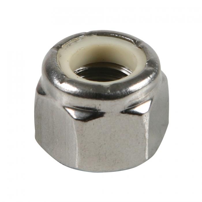 Stainless Nylon Lock Nut - 3/8