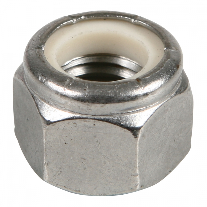 Stainless Nylon Lock Nut - 1/2