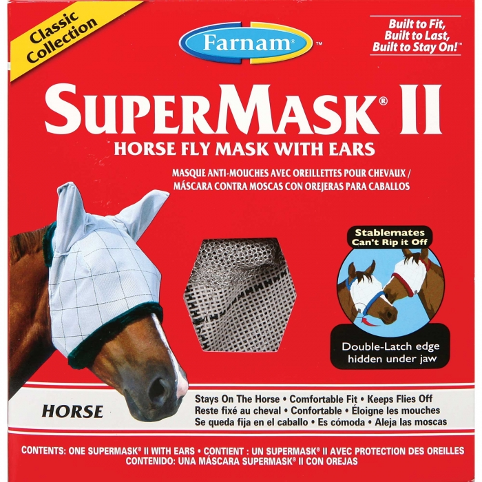 Farnam SuperMask II Horse Fly Mask Classic Collection