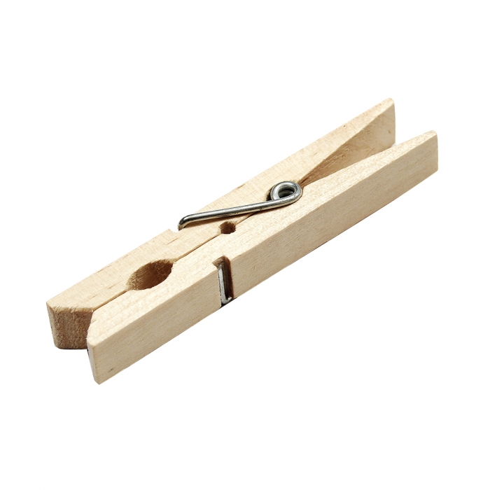 Spring Wooden Clothespins