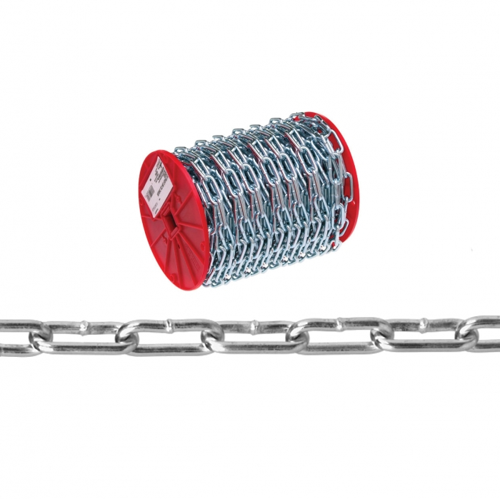 Campbell #2 Straight Link Coil Chain, Zinc Plated