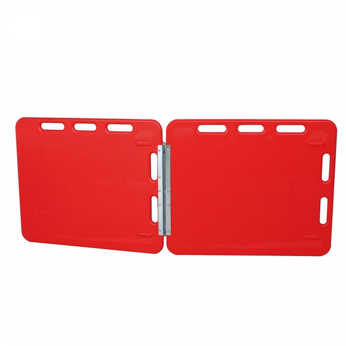 Red Hinged Sorting Double Panel - Smooth Side