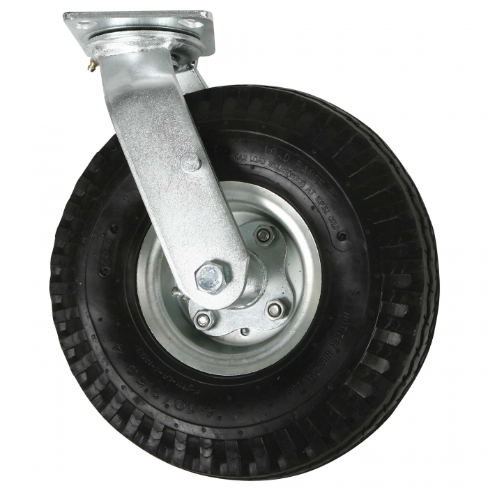 Swivel Caster With Pneumatic Tire for 4-Wheel Carcass Cart