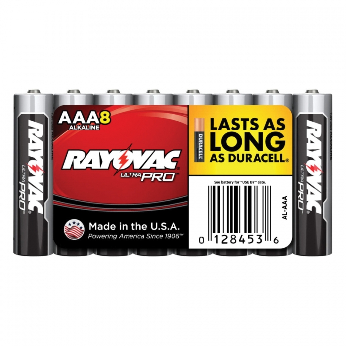 Rayovac AAA Ultra Pro Alkaline Battery 8 Pack