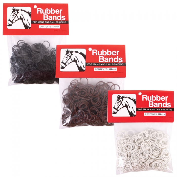 Rubber Bands for Mane and Tail Braiding