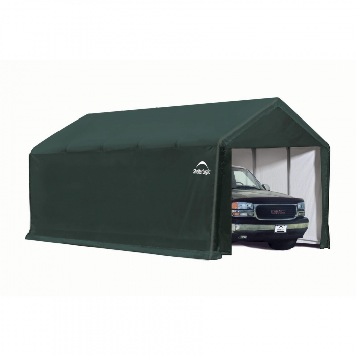 ShelterLogic ShelterTube Garage/Storage Shelter - 25' x 12' x 11' - Green