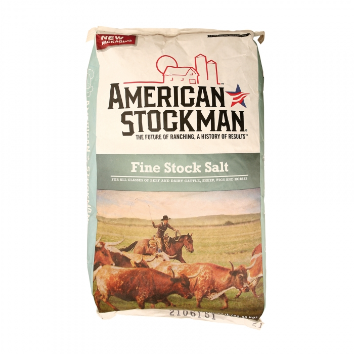 American Stockman Fine Stock Salt - 50LB Bag