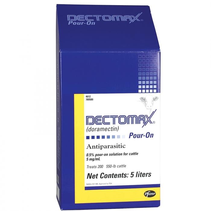 Dectomax Pour-On (Pfizer) - 5.0 Liter (Case of 2)