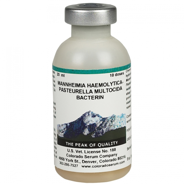 Mannheima Pasteurella Bacterin (Colorado Serum) - 10 Dose