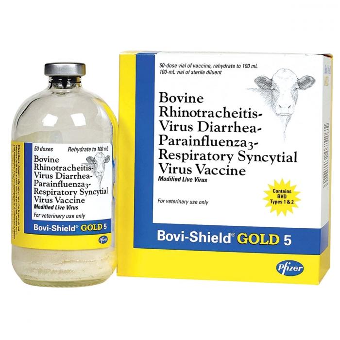 Bovi-Shield Gold 5 (IBR-BVD PI3 BRSV) - 50 Dose