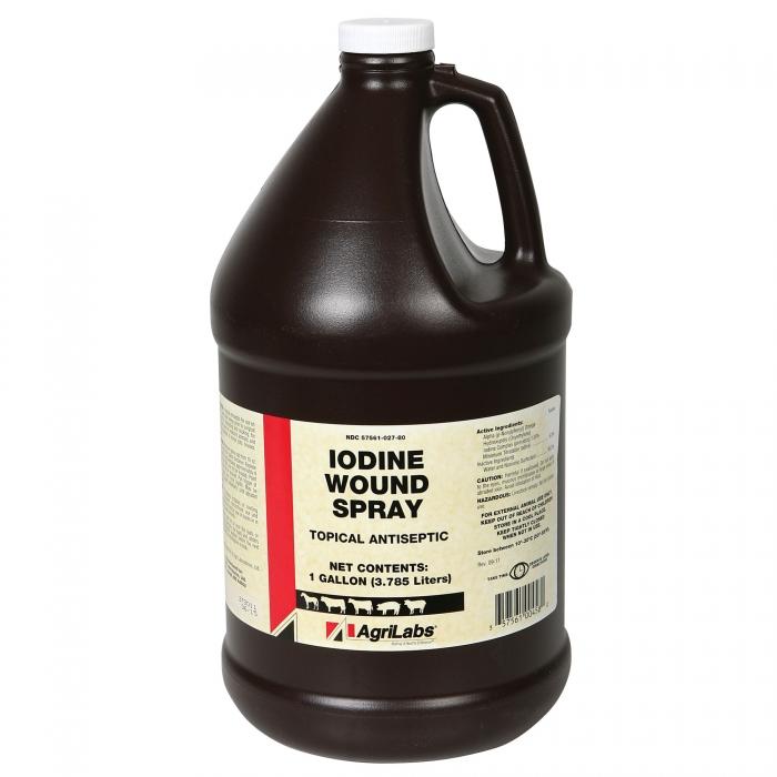 Iodine Wound Spray (AgriLabs) - Gallon