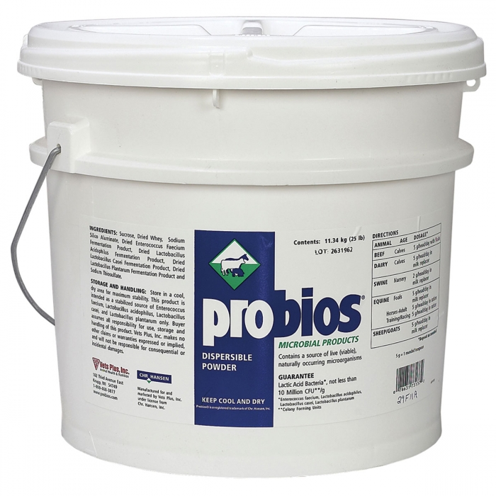 Probios Water Soluble (Vets Plus/Chr. Hansen) - 25 lbs.