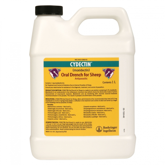 Cydectin Oral Drench for Sheep - Liter