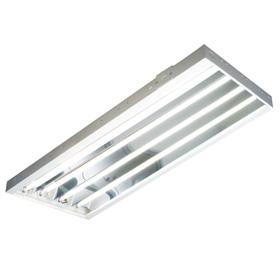 T5 Fluorescent High Bay Lighting - 4 Bulb Fixture   QC Supply