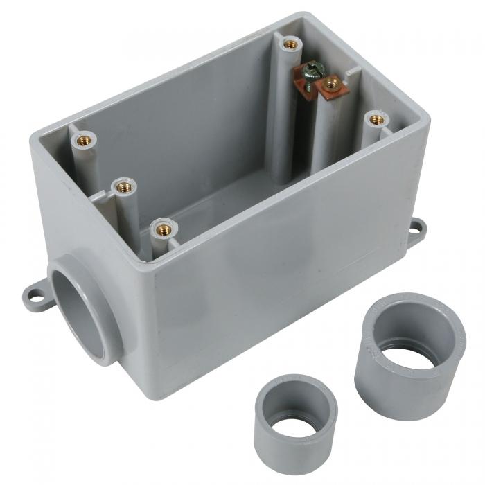 3/4 inch FDS PVC Single Gang Box