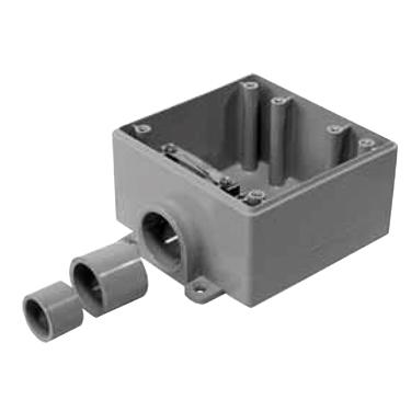 FSS-2 PVC Double Gang Box