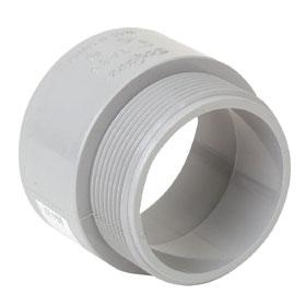 PVC Terminal Adapter - 1/2