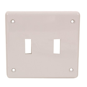 Wall Plates - Double Toggle Switch