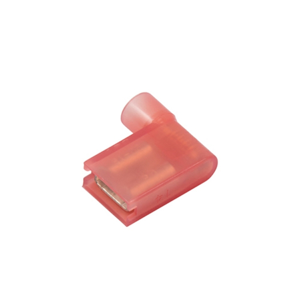 Clear Nylon-Insulated Push-On Flag Terminals 22-18 Ga.