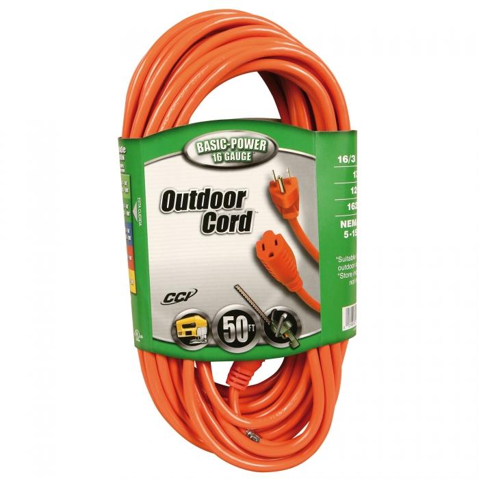 50' Extension Cord (16/3 gauge)