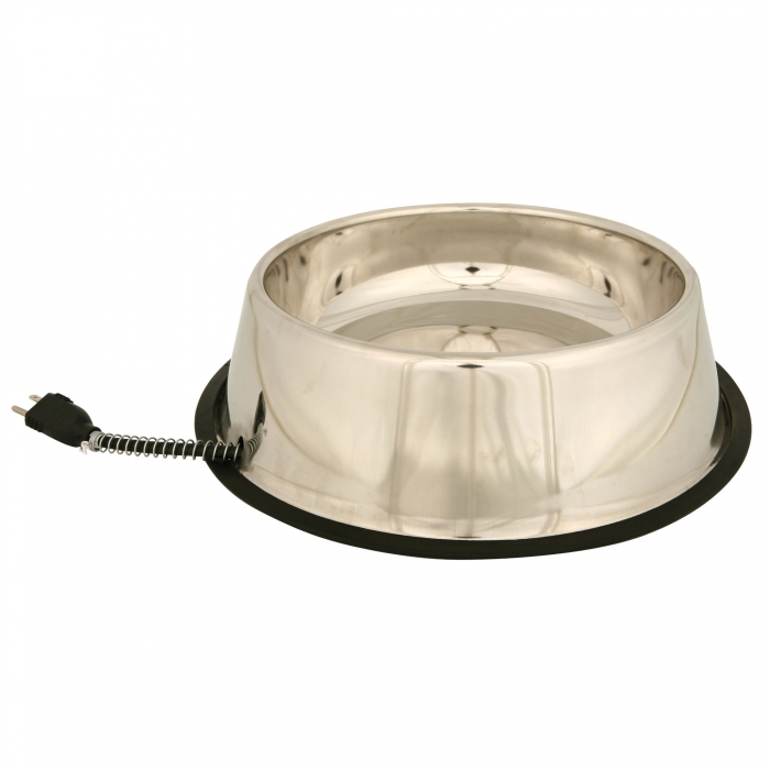All Stainless Steel Heated Pet Bowl