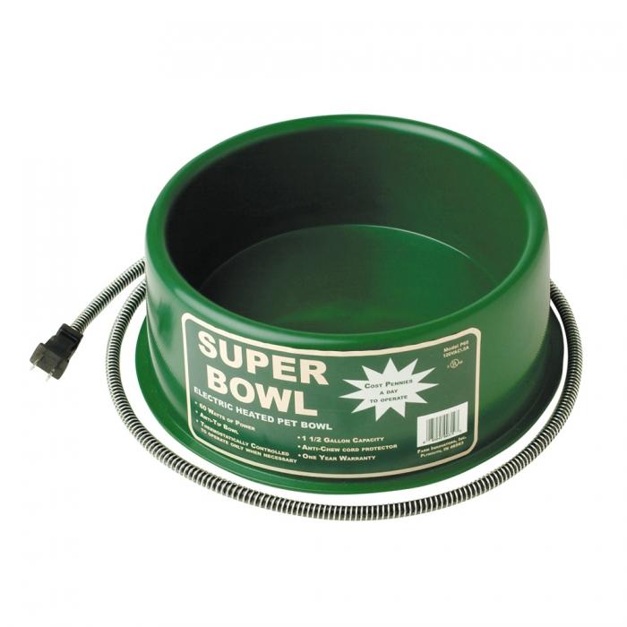 Premium Round Heated Pet Bowl
