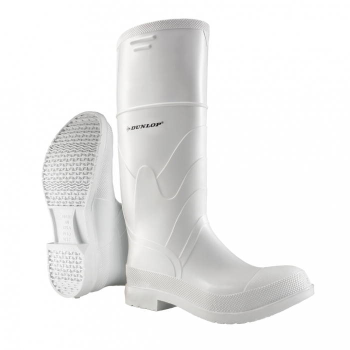 Dunlop Protective Footwear 16 inch White PVC Boot - Steel Toe