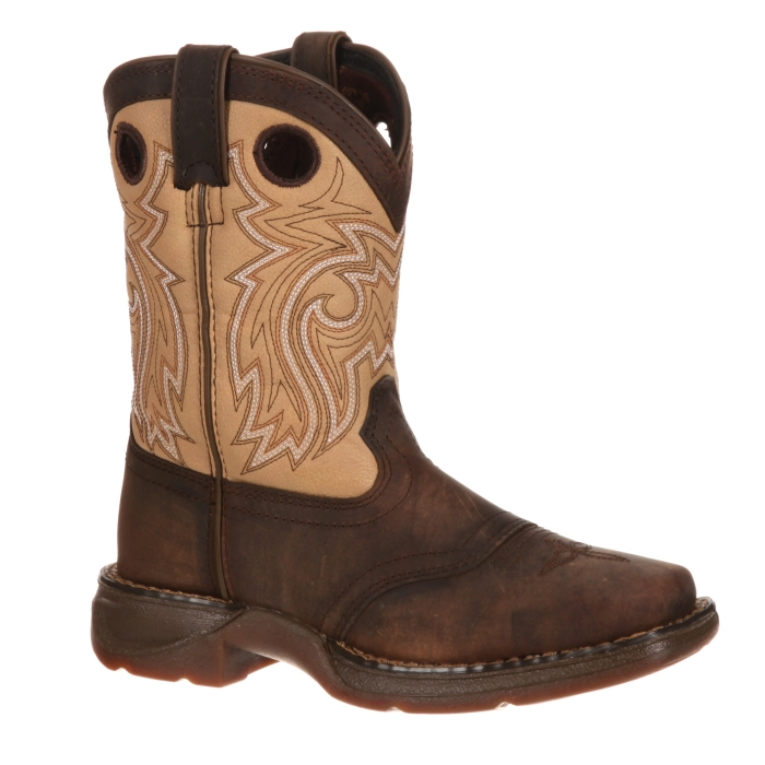 Lil' Durango® Brown Saddle Boot