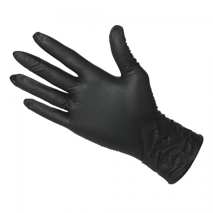 Black Nitrile Disposable Gloves 4 Mil Qc Supply