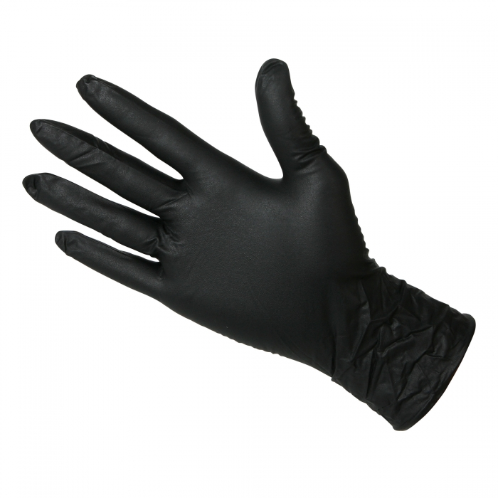 Black Nitrile Disposable Gloves 6 Mil Qc Supply