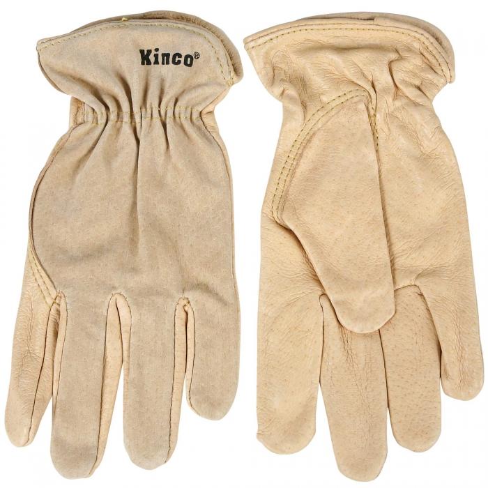 Kinco® Unlined Grain Pigskin Leather Gloves