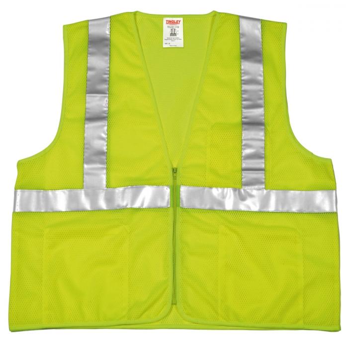 Tingley Class 2 Hi Vis Vest - Zipper Closure