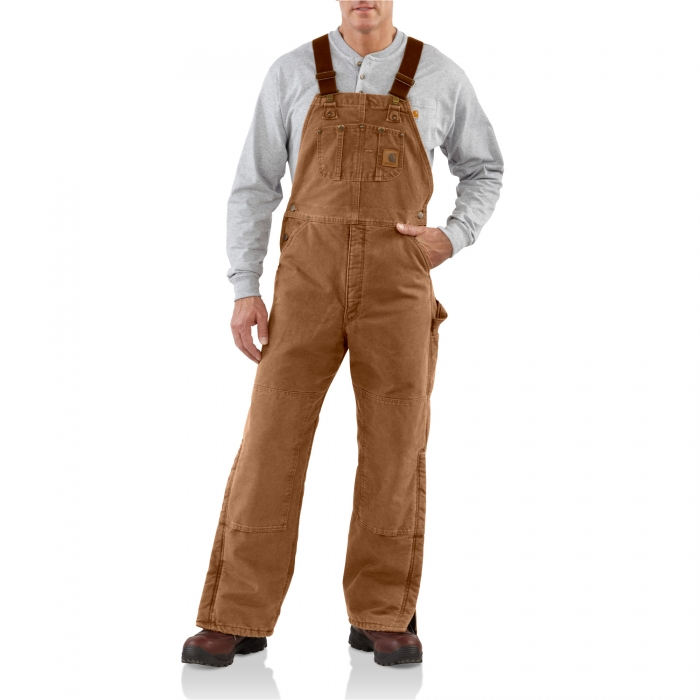 Carhartt Soft Prewashed Insulated Bib Overall Front