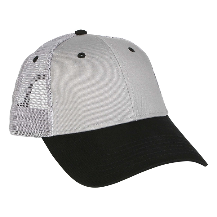 Pro Style Twill Mesh Caps - Black/Gray