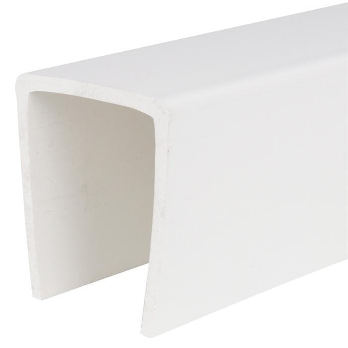 PVC U Channel - 2 inch x 20'