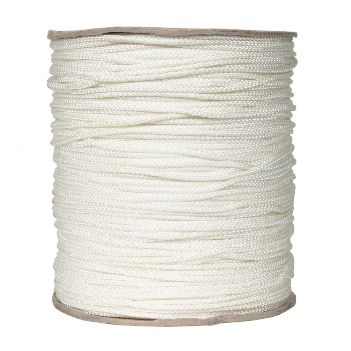 1/8 inch White Polyester Cord Medium/Low Stretch