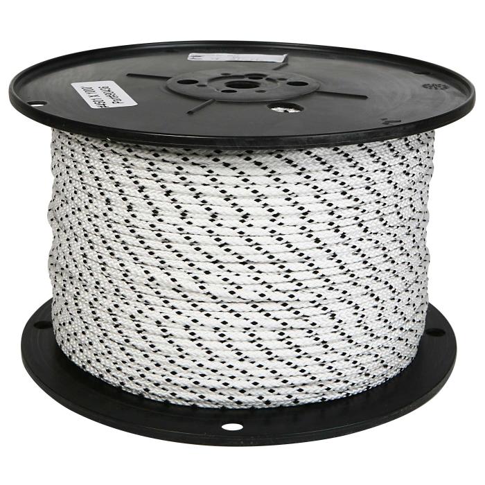 3/16 inch White Nylon Cord Medium/Low Stretch