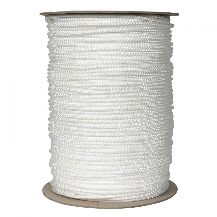 3/16 inch White Polypropylene Cord Low Stretch
