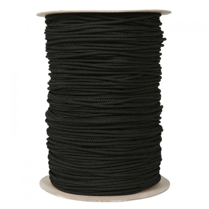 3/16 inch Black Nylon Cord Low Stretch