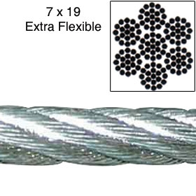 Galvanized Cable by THE FOOT - 3/16