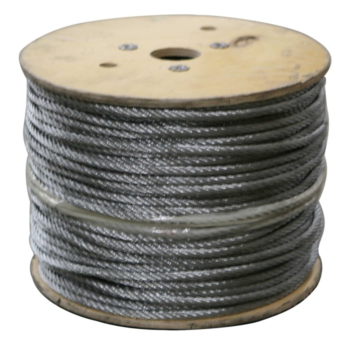 Stainless Steel Cable By The Roll 1 8 Quot 7x7 1000 Ft