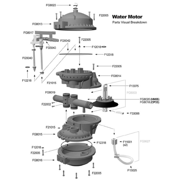 Chemilizer™ CP33 1:100 Repair Parts (CH6000-210)