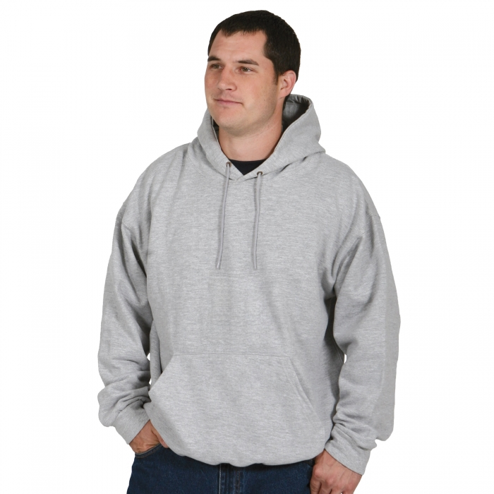 FIVE ROCK Midweight Hooded Pullover Sweatshirt - Gray