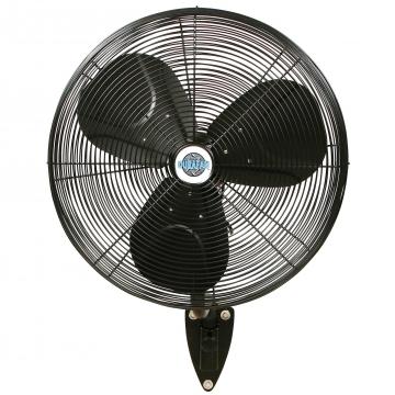 DURAFAN Indoor/Outdoor Wall Mount Fan   24 Inch   Oscillating   Black